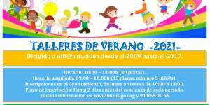 Ampliación talleres de verano en Buitrago del Lozoya - Dirigido a niños y niñas nacidos desde el 2009 hasta el 2017
