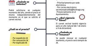 Abierto el plazo para solicitar o renovar el Carnet Vecinal temporada 2021-2022