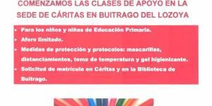 Apoyo escolar en la sede de Cáritas en Buitrago del Lozoya