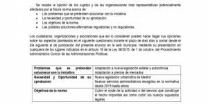 Consulta pública de las Ordenanzas fiscales reguladoras del Impuesto sobre Construcciones, Instalaciones y Obras y del Impuesto sobre el incremento de valor de los terrenos de naturaleza urbana