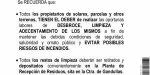 Bando - Desbroce, limpieza y adecentamiento de solares, parcelas y otros terrenos
