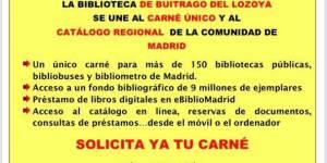 La Biblioteca de Buitrago del Lozoya se une al carné único y al catálogo regional de la Comunidad de Madrid
