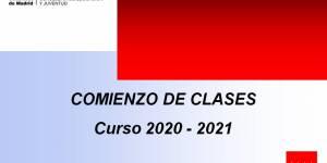 Estrategia inicio curso escolar 2020/21 Comunidad de Madrid