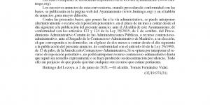 Convocatoria de selección por el sistema de concurso-oposición para el nombramiento de un Oficial electricista y la constitución de Bolsa de Trabajo - Bases generales