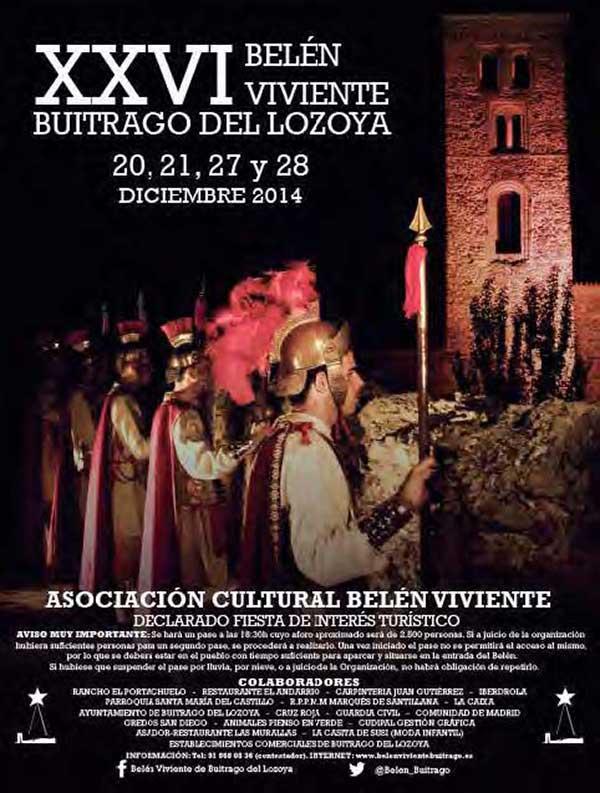 Ayuntamiento De Buitrago Del Lozoya Xxvi Edición Belén Viviente Buitrago Del Lozoya 20 21 27 Y 28 De Diciembre 2014